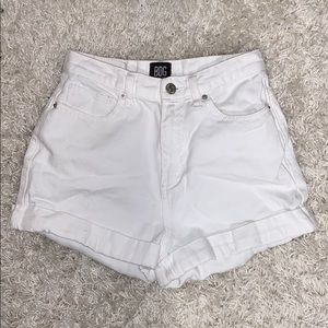 Urban Outfitters BDG white high rise mom shorts